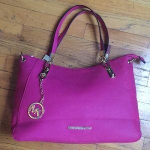 Michael Kors Hot Pink Leather Satchel